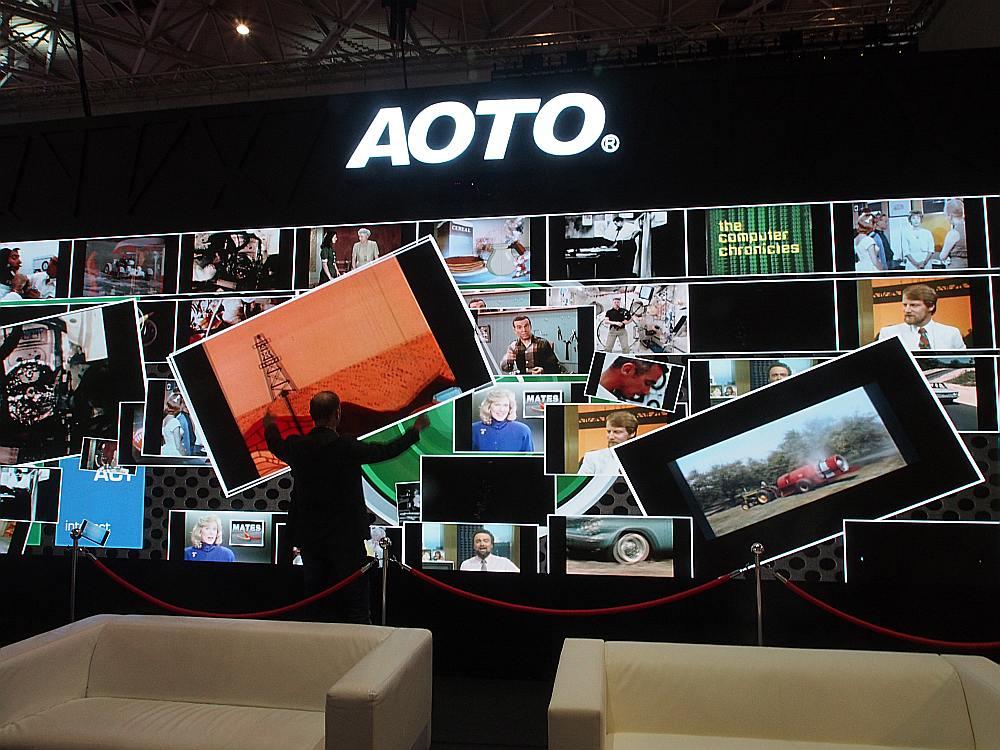 Diese Aoto LED Wall ist interaktiv - die Partner füe die Anwendung kommen aus Deutschland (Foto: invidis)