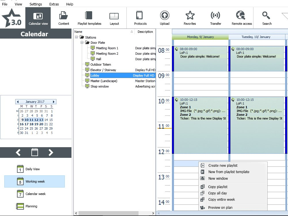 Englische Version von DisplayStar 3 (Screenshot: komma,tec redaction)