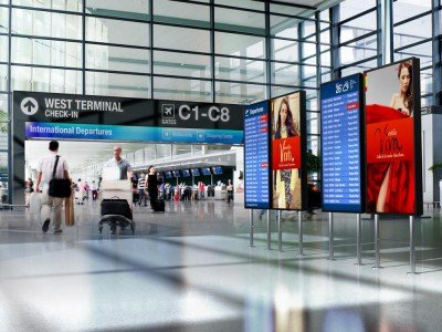High Brighness Screens am Airport (Foto/ Rendering: NEC)