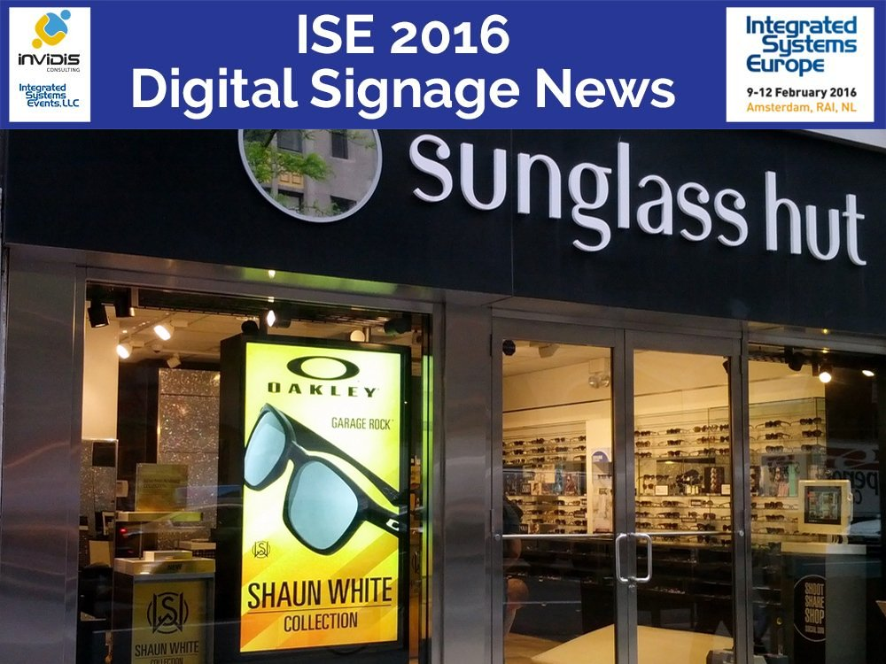 High Brightness Screen von DynaScan im Schaufenster eines Optikers (Foto: DynaScan)