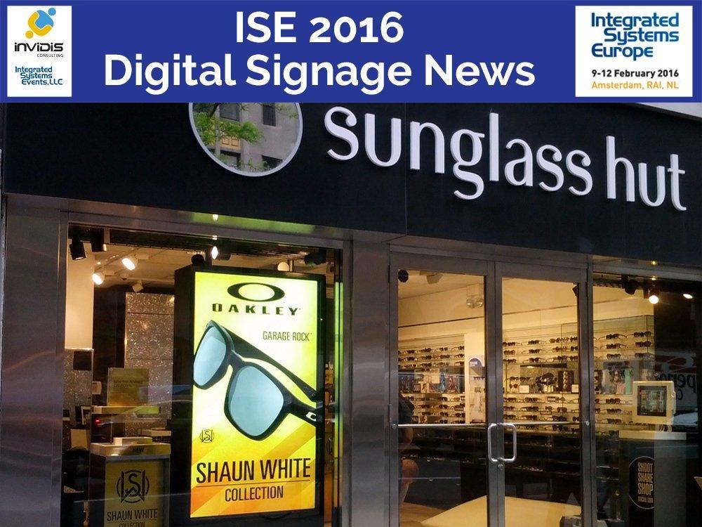 High Brightness Screen von DynaScan im Schaufenster eines Optikers (Foto: DynaScan)