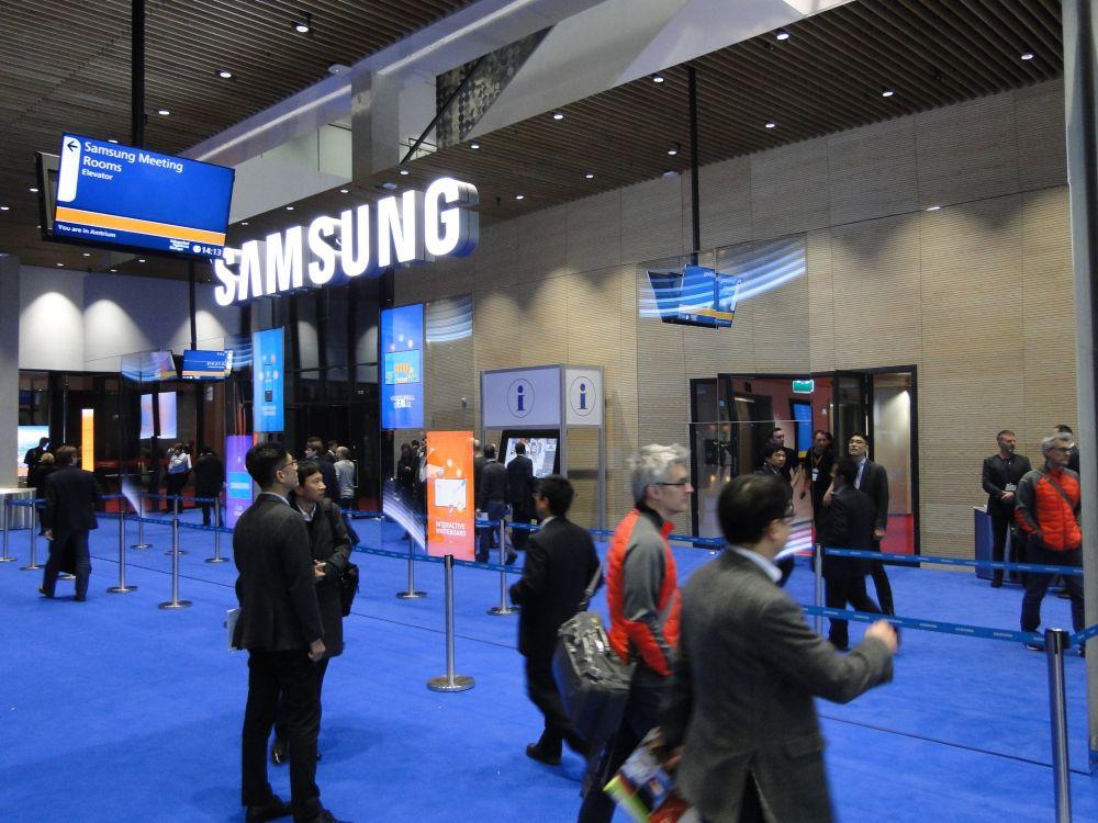 Bildergalerie Samsung Stand ISE 2016 (Bild: invidis)