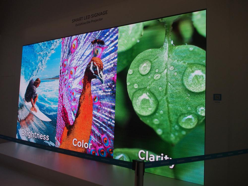 ISE 2016 - LED Screens von Samsung (Foto: invidis)