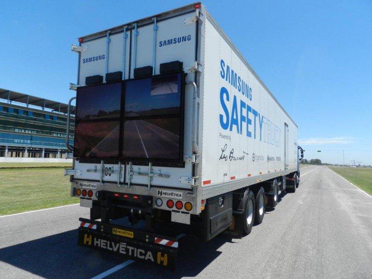 Kommt für 1 Jahr auf Argentiniens Straßen - Samsung Safety Truck (Foto: Samsung)