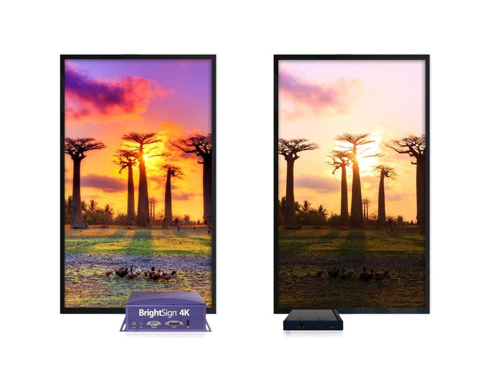 Mit HDR (links) lassen sich bessere visuelle Ergebnisse präsentieren als ohne (rechts) (Foto: BrightSign)