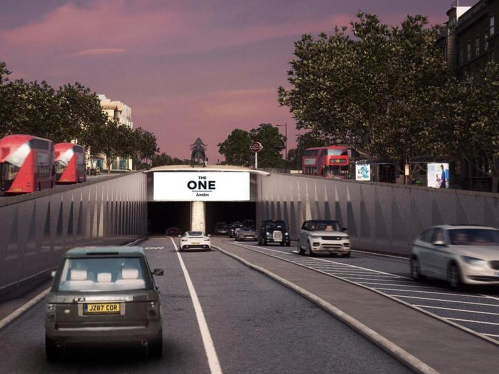Mit The One wird Outdoor Plus sein DooH Portfolio in London vergrößern (Foto/ Rendering: Outdoor Plus)