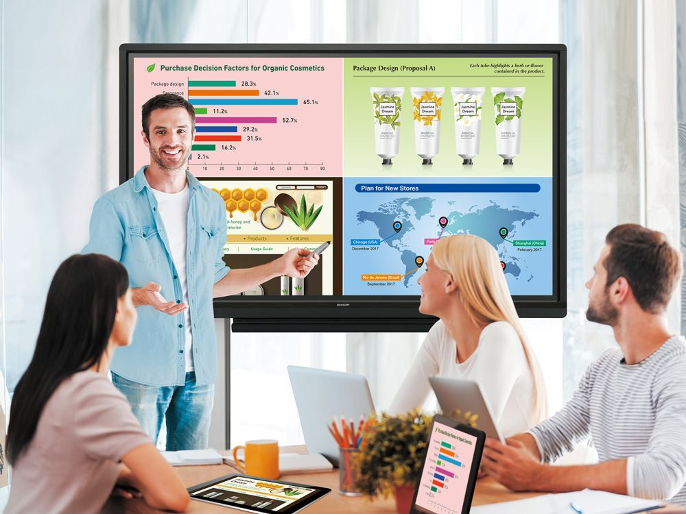 Mit Wireless Collaboration und Cloud wird die BYOD Nutzung weiter vereinfacht (Foto: Sharp)