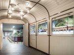 Rechts im Bild - drei von der Pfadfinderei kreierte digitale Waggon Fenster (Foto: Pfadfinderei)