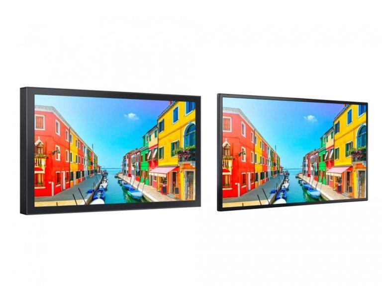 Small Signage Screens für Outdoor und Schaufenster - OH24E und OM24E (Fotos: Samsung)