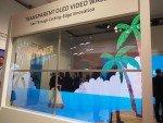 Transparente OLED Screens von Samsung in einer 2x2 Video Wall (Foto: invidis)