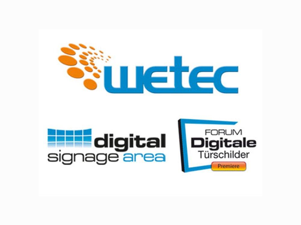 Digital Signage aud der wetec 2016 (Bild: wnp)