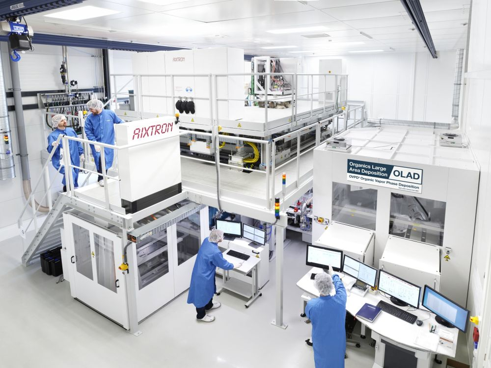 Aixtrons neuer OLED Demonstrator (Foto: Aixtron)