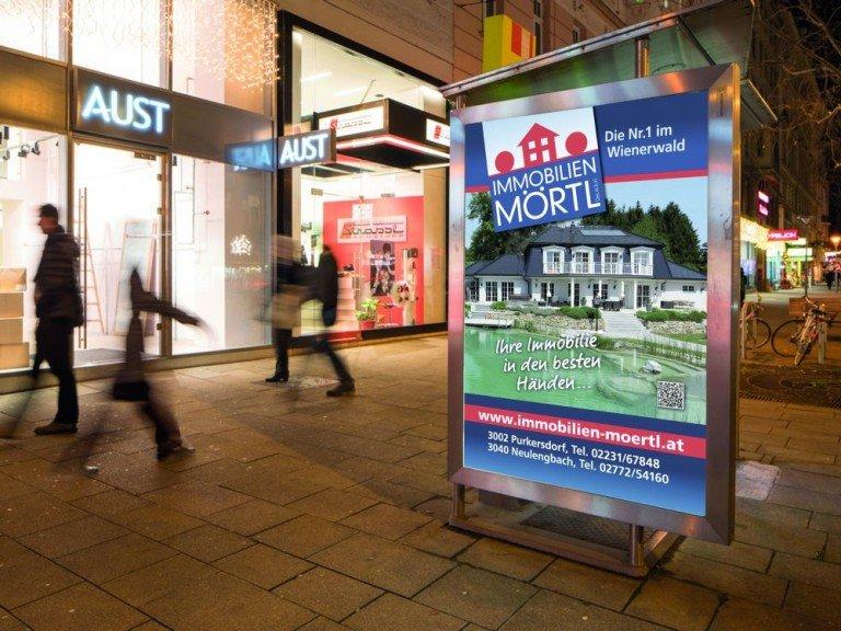 CLP mit Werbuhng für ein Immobilienangebot (Foto: Epamedia)