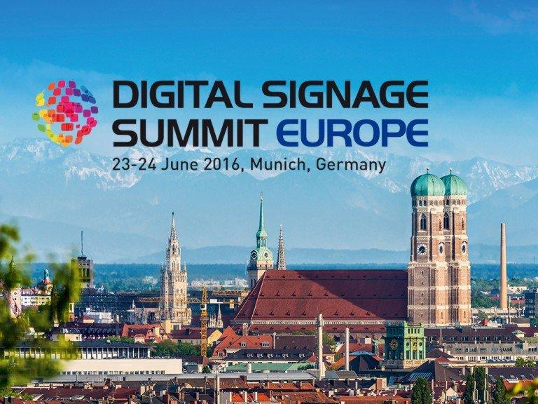 Digital Signage Summit Europe findet als Zwei Tage Konferenz am 23. und 24. Juni 2016 statt (Bild: invidis)
