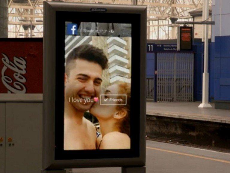 DooH Kampagne von Grand Visual für Facebook (Screenshot: invidis)