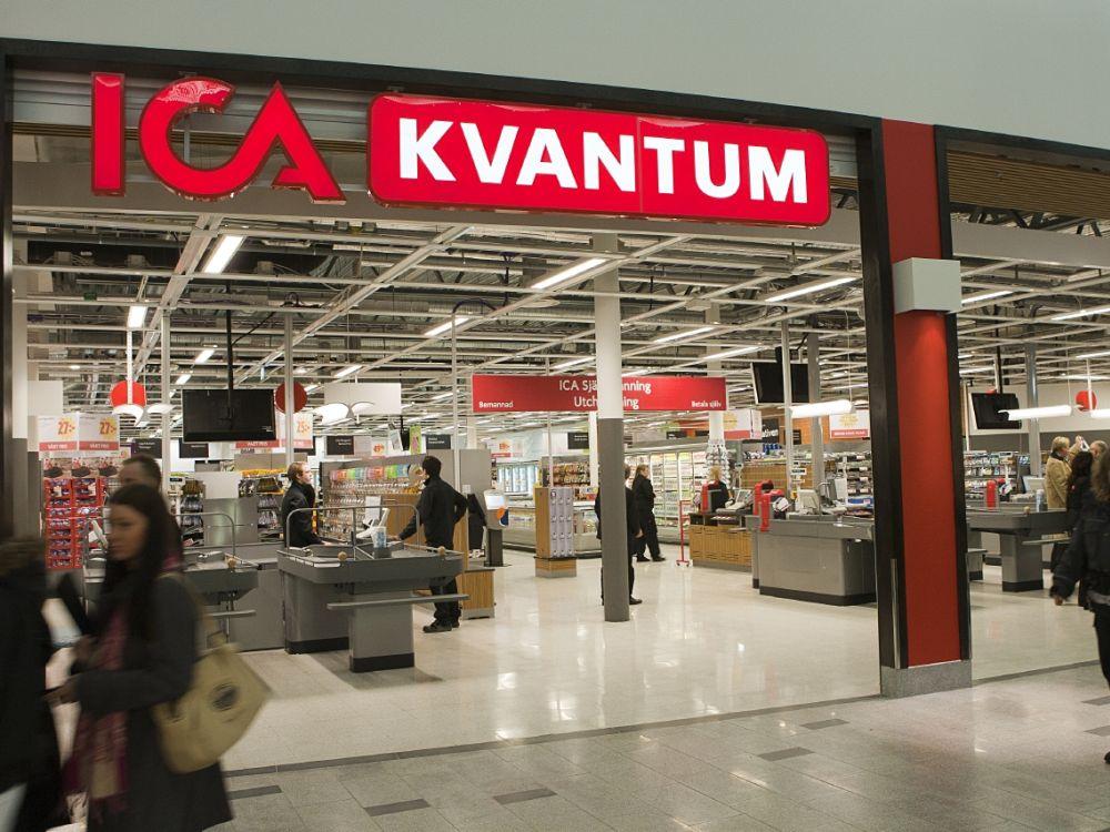 Eingang eines schwedischen ICA Supermarkts (Foto: ICA Gruppen)