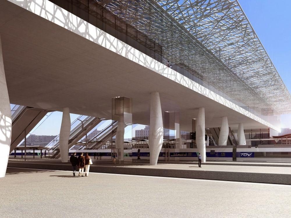 Geplanter Bahnhof in Nantes (Foto: DR / SNCF )