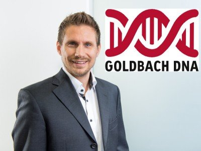 Horst Brunner, Unit Director DOOH Goldbach Media Austria, neues Goldbach D N A Logo (Foto; Grafik: Goldbach Media Austria)