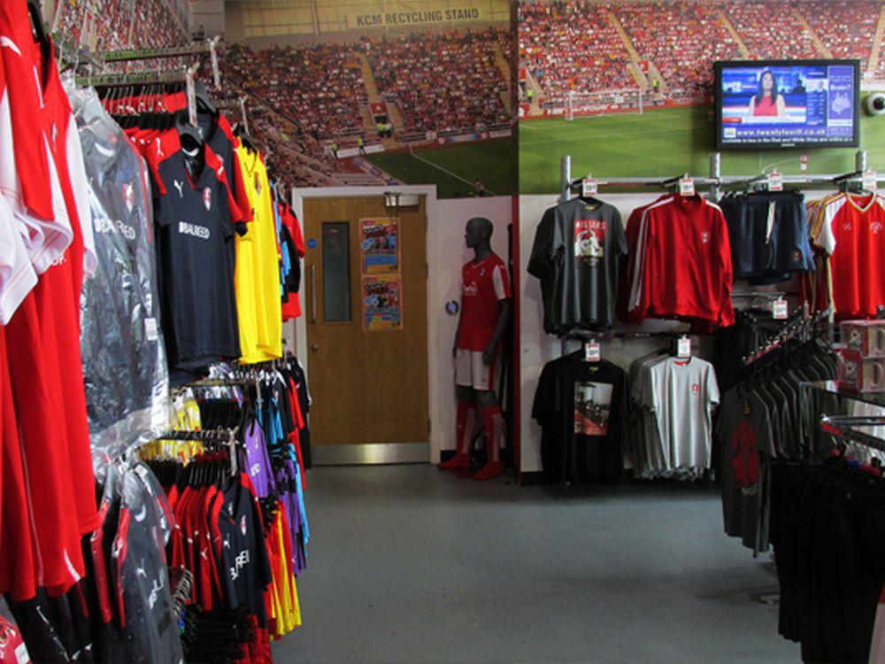 Rotherham United FC setzt auf Tripleplay - im Retail Outlet Bereich des Stadions (Foto: Tripleplay)