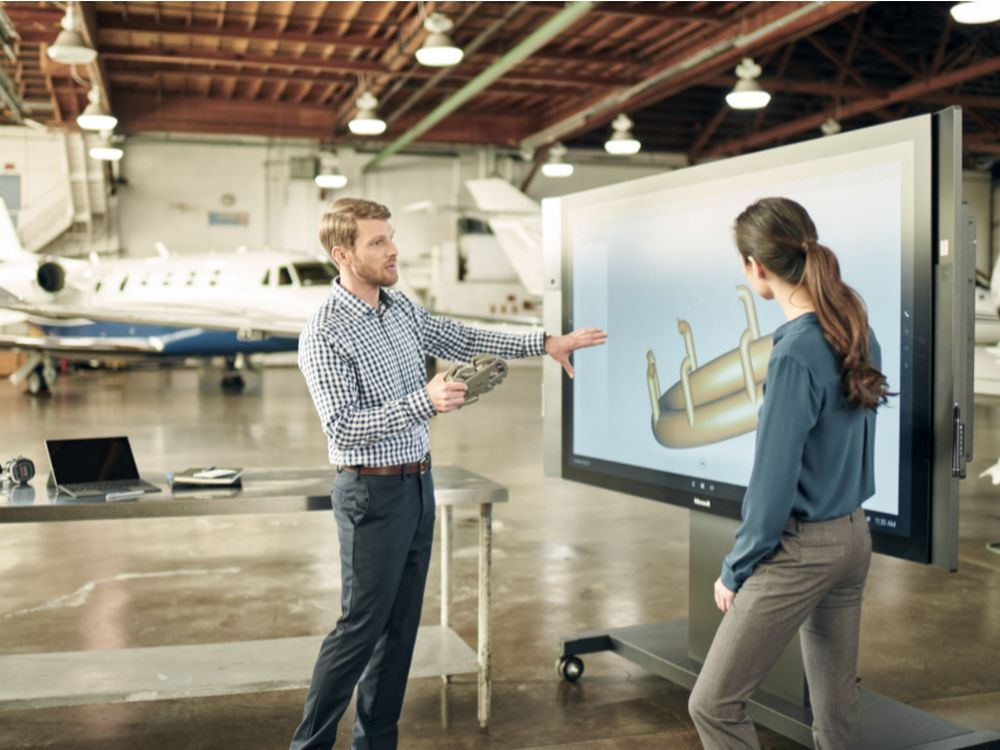 SurfaceHub im Einsatz (Foto: Microsoft)