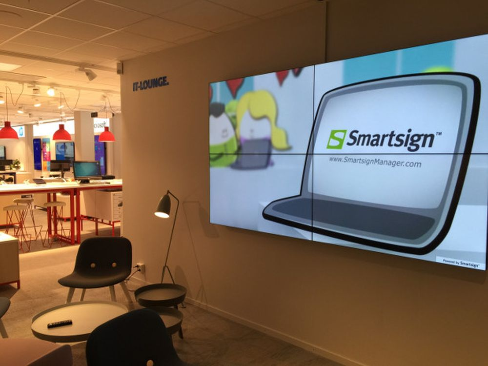 Video Wall Umsetzung mit Smartsign (Foto: Smartsign)
