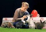 Vorbereitung auf das große Rennen - Media Markt Osterhasen-Raser mit Filmtiertrainerin Renate Hiltl (Foto: Renates Film-Tier-Ranch)