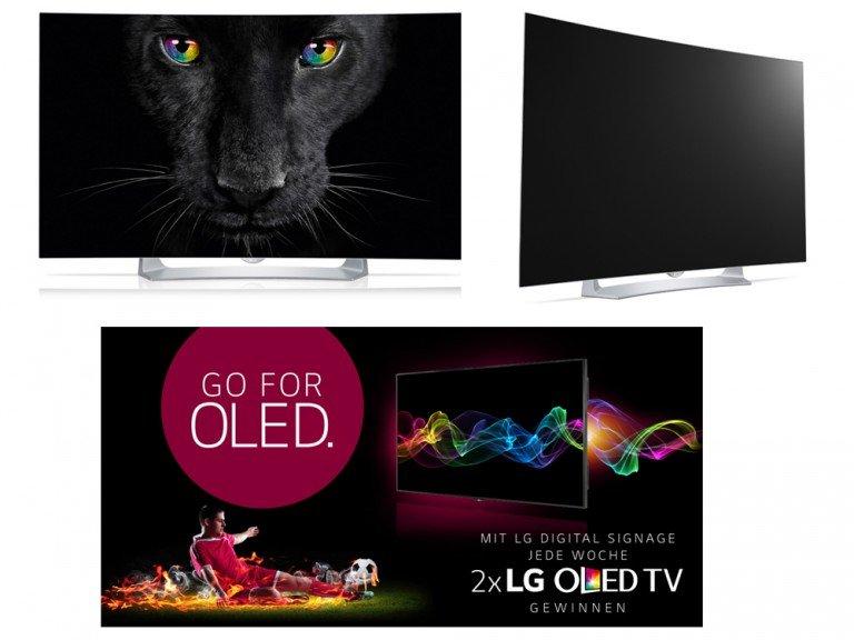 Zu gewinnen gibt es den OLED TV 55EG9109 (Fotos: LG)