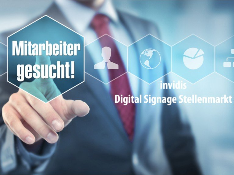 invidis Digital Signage Stellenmarkt (Bild: invidis)