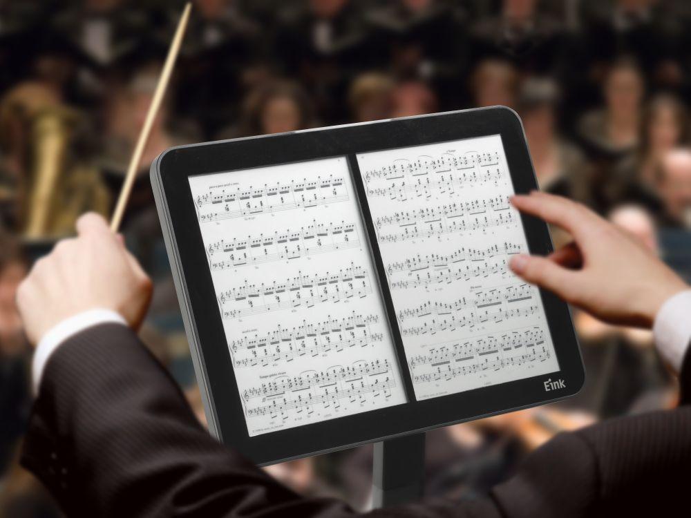 Auch am Dirigentenpult lässt sich ein E Ink Screen nutzen (Foto: E Ink Holdings)