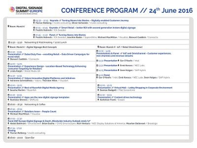 Weitere Details zum Konferenzprogramm des Digital Signage Summit Europe 2016 (Grafik: invidis)