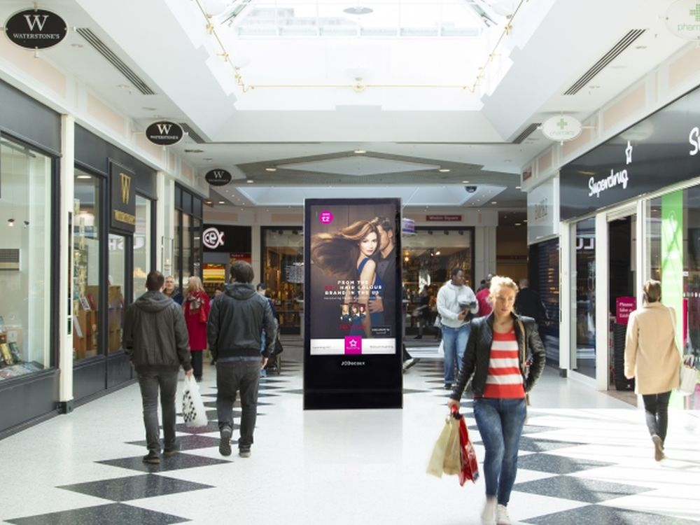 Digital 6 Sheet im Telford Shopping Centre (Foto: JCDecaux)