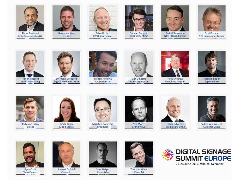 Die ersten Sprecher des Digital Signage Summit Europe 2016 stehen fest (Bild: invidis)