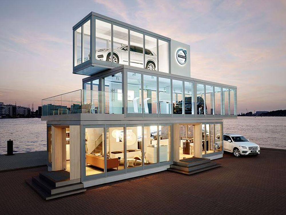Ging bei der Hanse Sail an Land - das modulare Volvo Forum in Rostock (Foto: Volvo Car Germany)