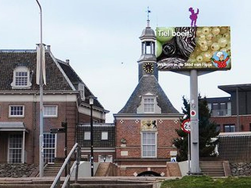 Großer LED Screen von OpgeLED in den Niederlanden (Foto: OpgeLED)