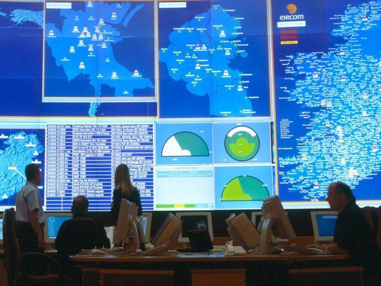 Großer Markt für große Video Walls - ein Control Room in Irland (Foto: Barco)