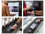 Interaktive Screens und NFC Technologie sorgen für die Anbindung an den Webshop (Foto: Intangibles)