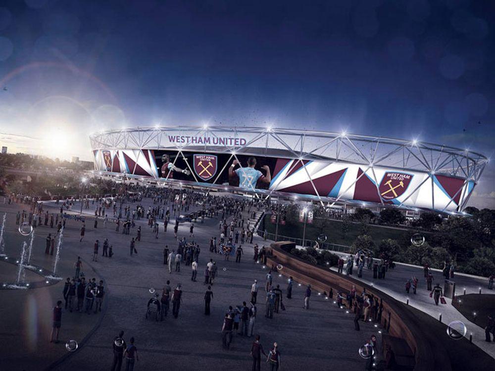 Londons Olympastadion soll mit Europas größtem Screen ausgestattet werden (Foto/ Rendering: West Ham United)