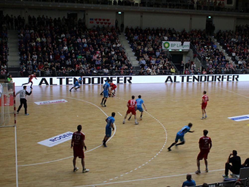 Neue LED Bande beim Handballclub WHV (Foto: LEDCON)
