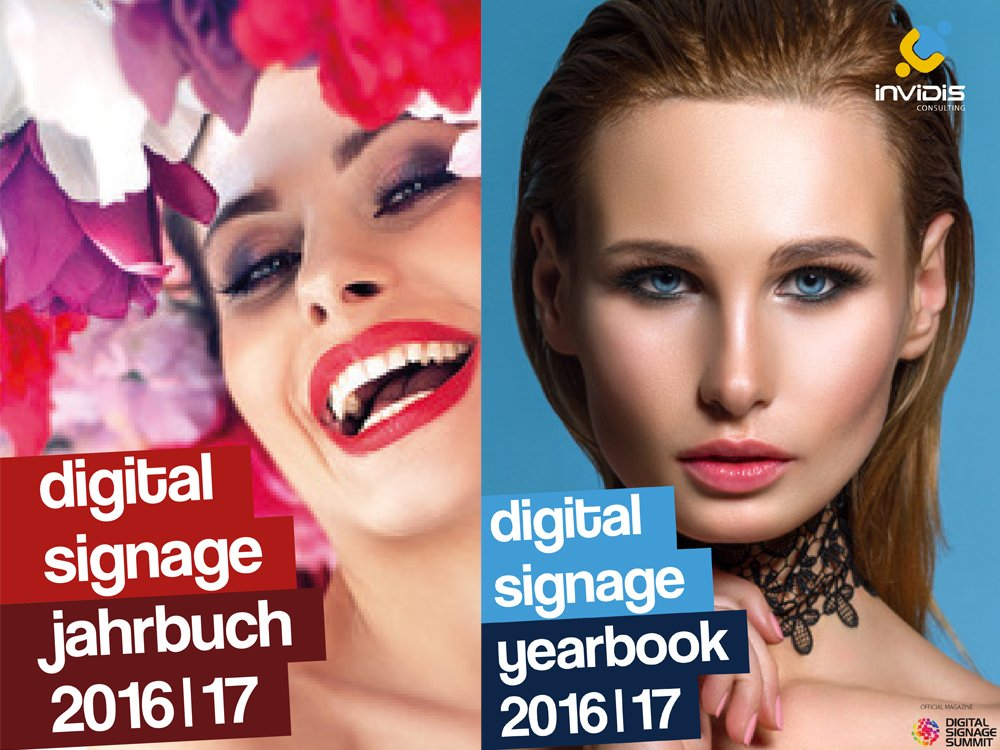 Schon in einem Monat endet der Anzeigenschluss für die invidis Digital Signage Jahrbücher 2016/17 (Bild: invidis)