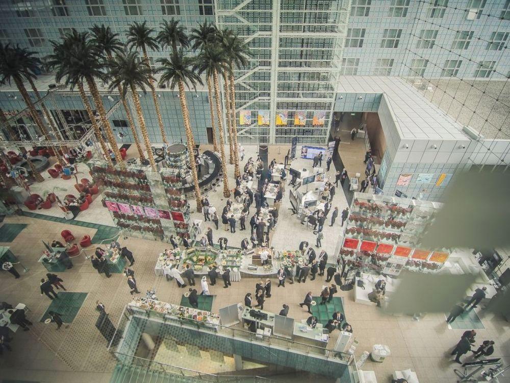 DSS Europe 2016 in München - Blick auf die Ausstellung im Foyer des Hilton (Foto: Goettlicherfotografieren.de)