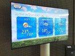Degussa Bank - Wetterinfos auf dem neuen DS System (Foto: NEXGEN si)