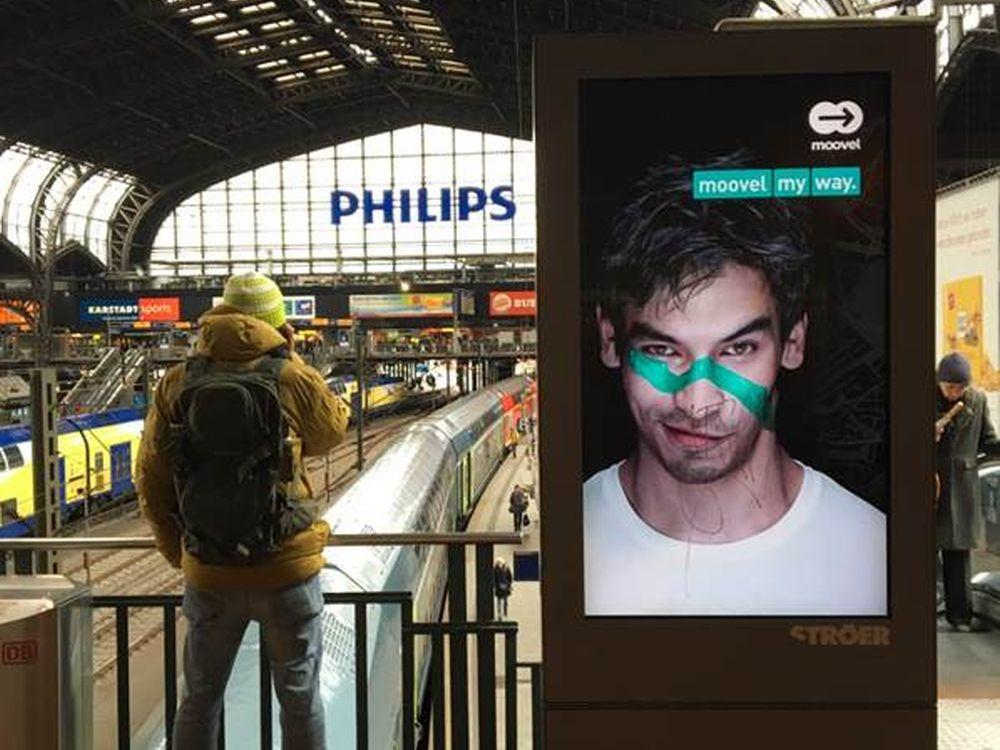 Deutschlands erste programmatische OoH Kampagne buchte Moovel (Foto: Ströer)