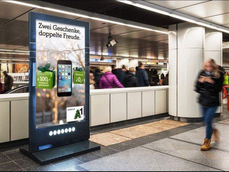 Die Kampagne von A1 Telekom Austria räumte Gold als Gesamtsieger und in der Kategorie Digital Media ab (Foto: Gewista)