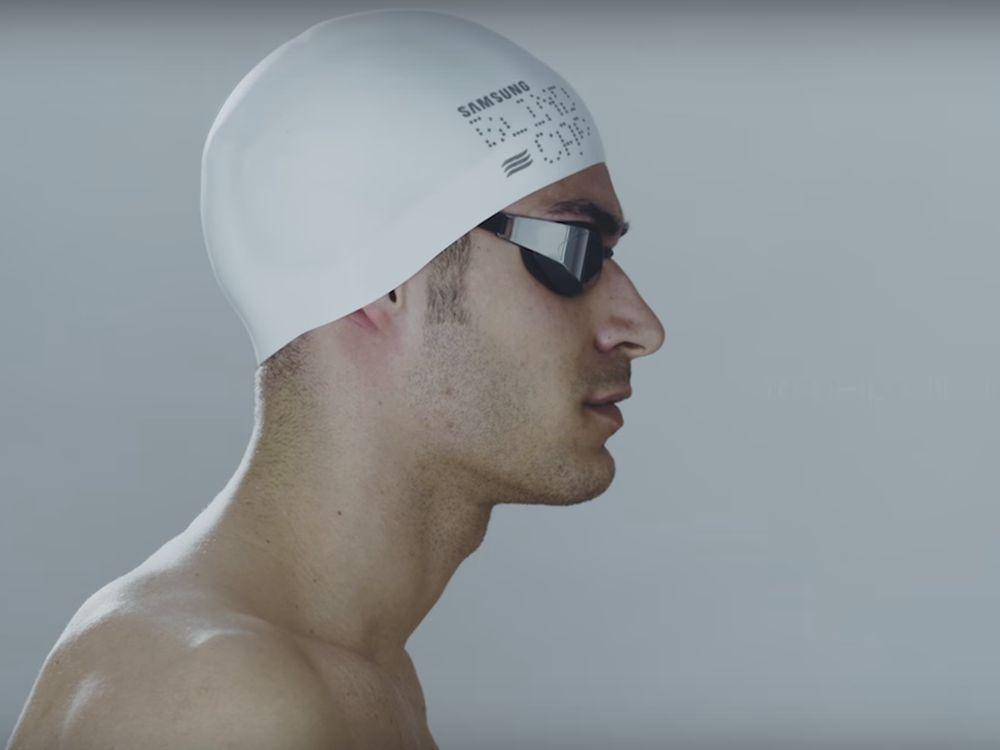 EffektiveTrainingshilfe für blinde Schwimmer - die Blind Cap (Screenshot: invidis)