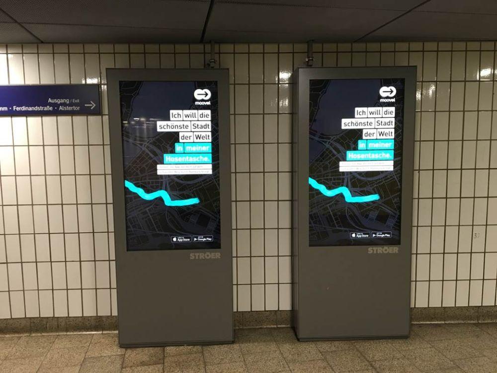 Moovel Kampagne - zeit- und wetterabhängige Ausspielung unterschiedlicher Werbebotschaften (Foto: Ströer)