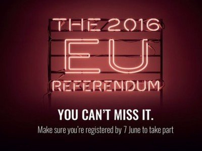 Motiv der britischen Kampagne über das EU Referendum 2016 (Grafik: Gov.uk)
