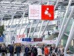Neues DUS AD BOARD Terminal - nahe an hoch frequentierten Laufwegen (Foto: Flughafen Düsseldorf / Andreas Wiese)