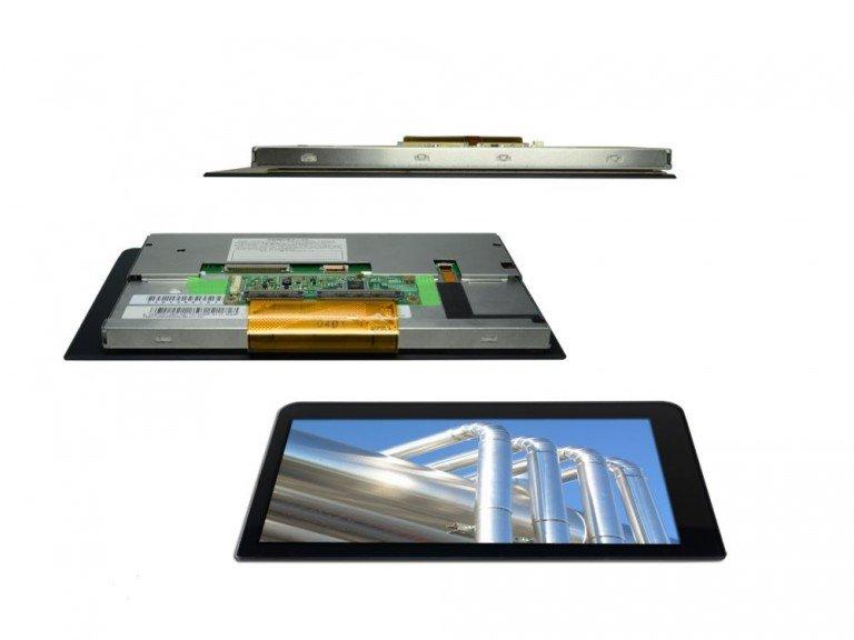 Optical Bonding - Distec rüstet nun auch PCAP Screens mit individuellem Schutzglas aus (Foto: Distec)