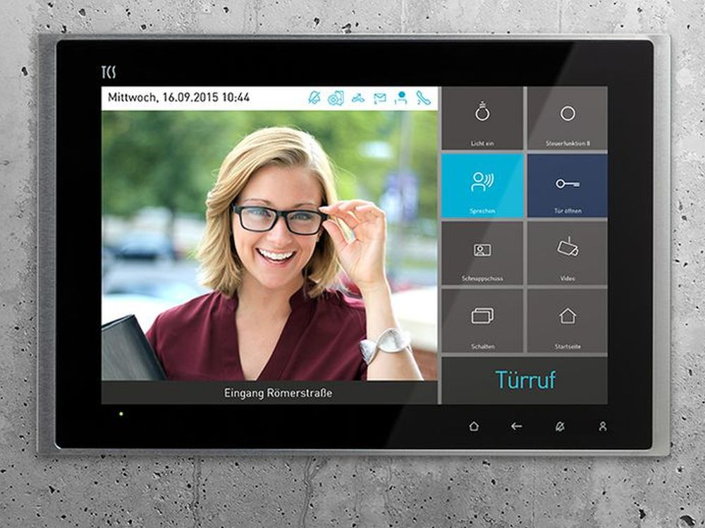 10,1 Zoll Touchdisplay Skyline Ten als Innenstation (Foto: TCS)