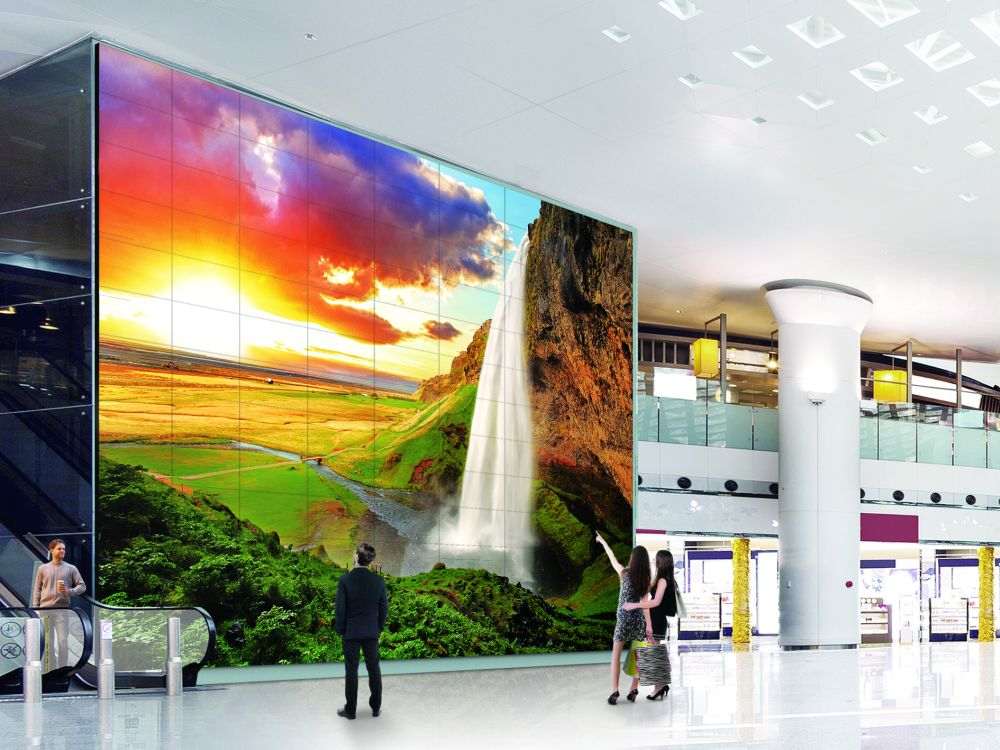 55VH7B Ultra Slim Bezel Screens in einer Video Wall (Foto: LG)